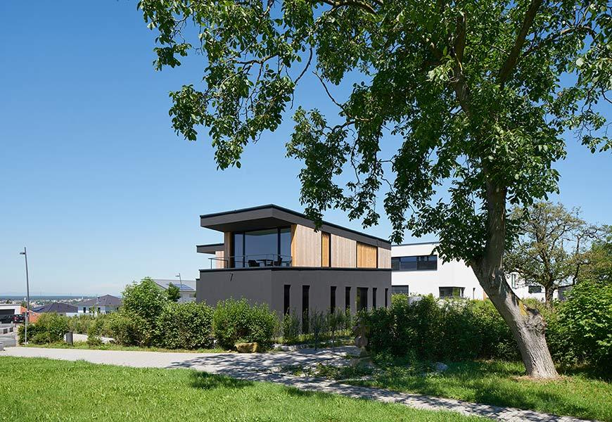 neubau eines einfamilienwohnhauses. Black Bedroom Furniture Sets. Home Design Ideas